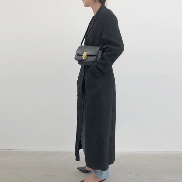 hm long coat / black