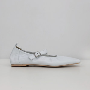 mary jane flat shoes (leather white)