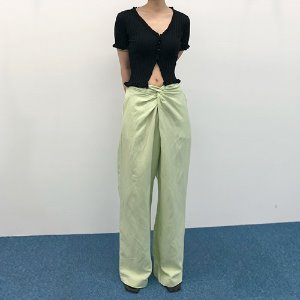 twist banding wide pants (2color)