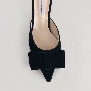 velvet ribbon mule (black)