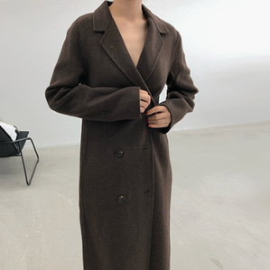 hm long coat / brown