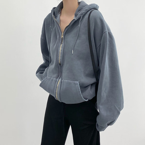 vintage hood zip-up (2color)
