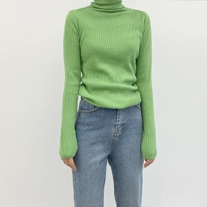slit wool turtle-neck (4color)