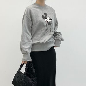 5% dicount -12/14 38000→36000 mickey cotton sweatshirt