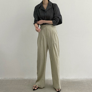 belted pants (2color)