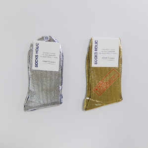 metallic socks (silver.gold)